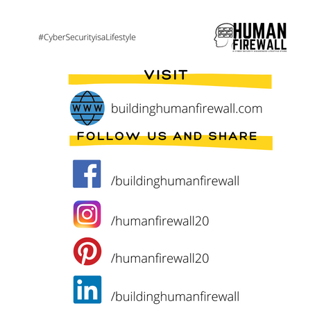 Human Firewall, A Cyber Security Awareness Lifestyle Store Web and Social Media Presence www.buildinghumanfirewall.com