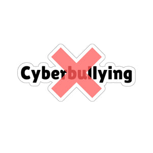 """No Cyberbullying"" Custom Kiss-Cut Stickers"