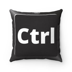 """Ctrl Keyboard Button"" Cyber Security Custom Spun Polyester Square Pillow www.buildinghumanfirewall.com"