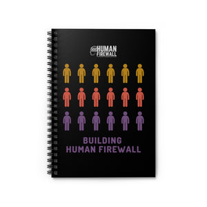 """Building Human Firewall (People)"" Cyber Security Custom Spiral Notebook - Ruled Line www.buildinghumanfirewall.com"