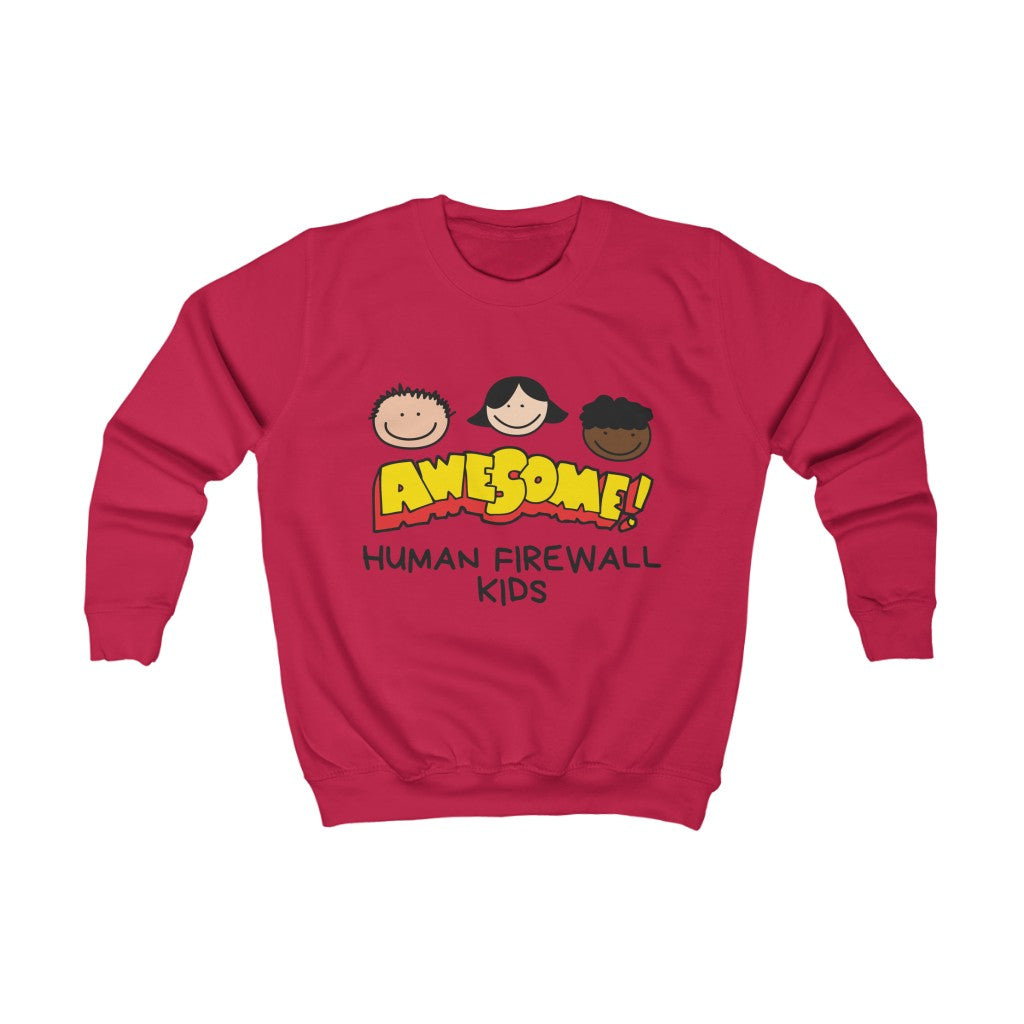 """Awesome""  Cyber Security Custom Kids Sweatshirt www.buildinghumanfirewall.com"