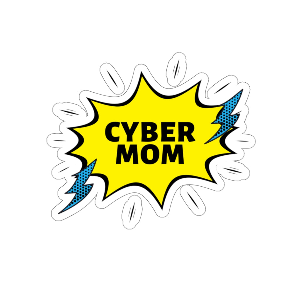 """Cyber Mom"" Custom Kiss-Cut Stickers"
