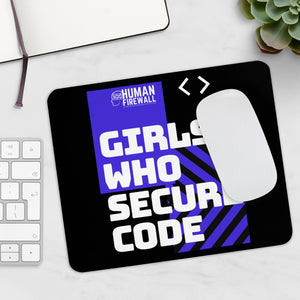 """Girls who secure code"" Custom Mousepad"
