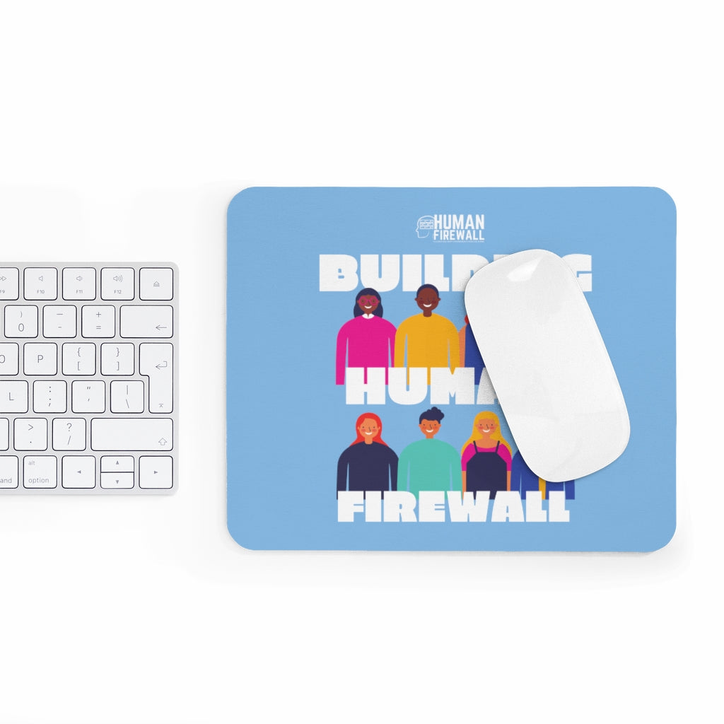 """Building Human Firewall (Diversity)"" Cyber Security Custom Mousepad www.buildinghumanfirewall.com"