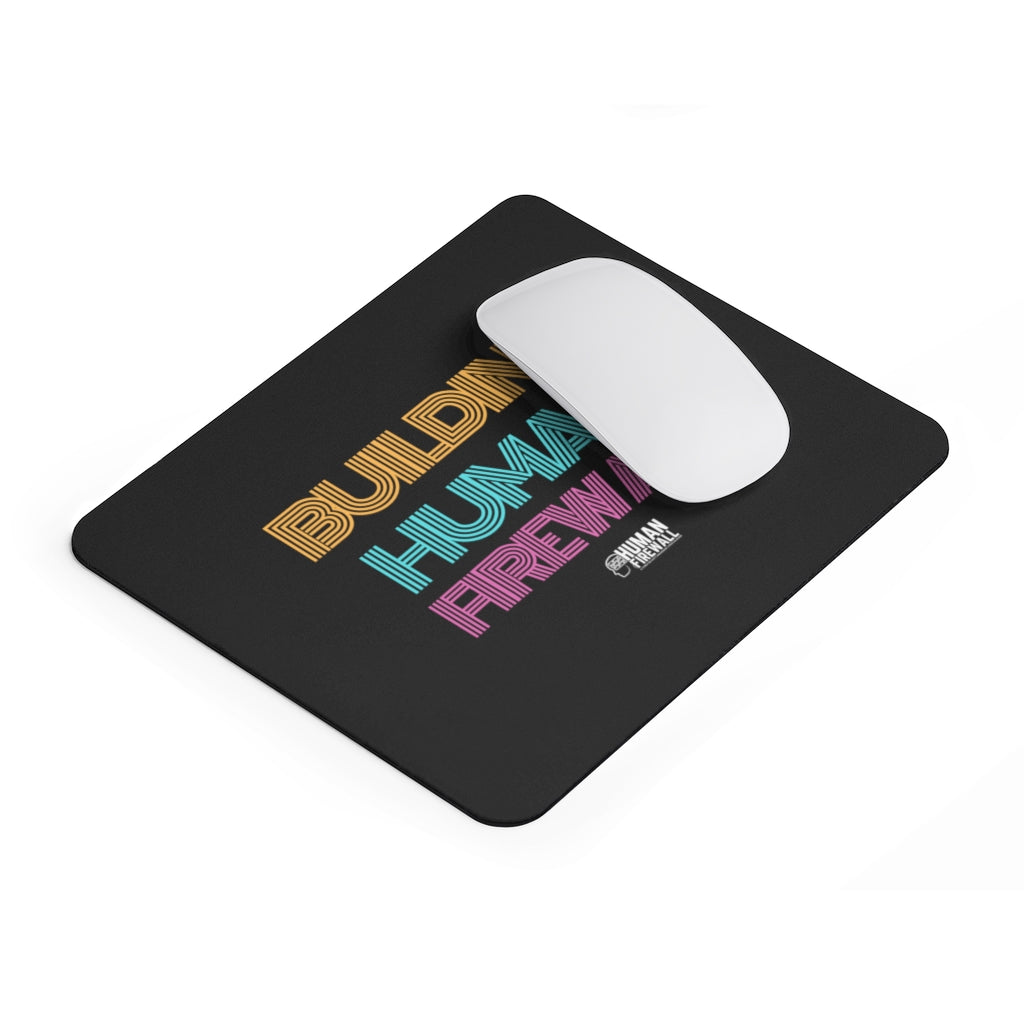 """Building Human Firewall"" Vintage Cyber Security Custom Mousepad www.buildinghumanfirewall.com"