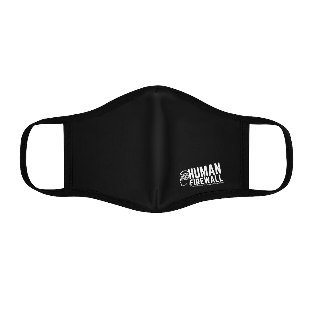 Human Firewall Logo Cyber Security Custom Fitted Face Mask