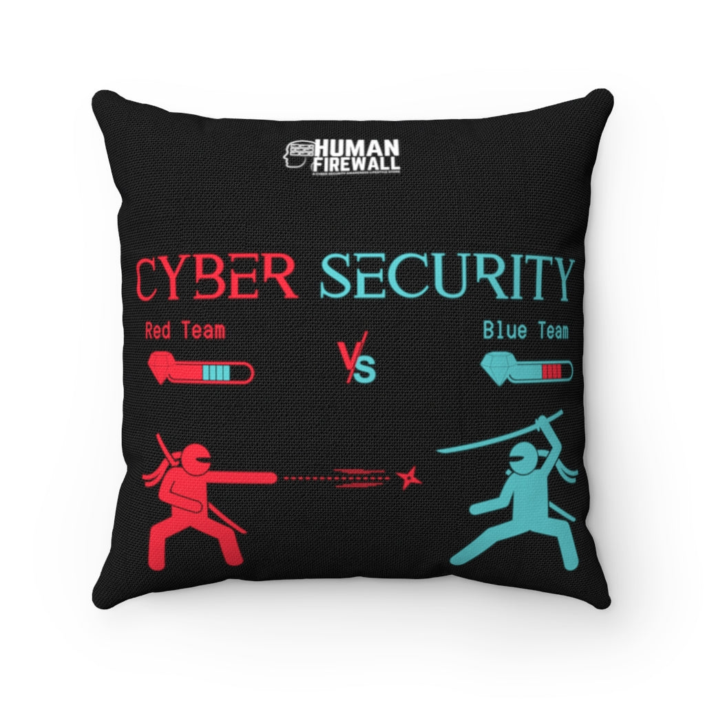 """Red Team vs Blue Team"" Custom Spun Polyester Square Pillow"