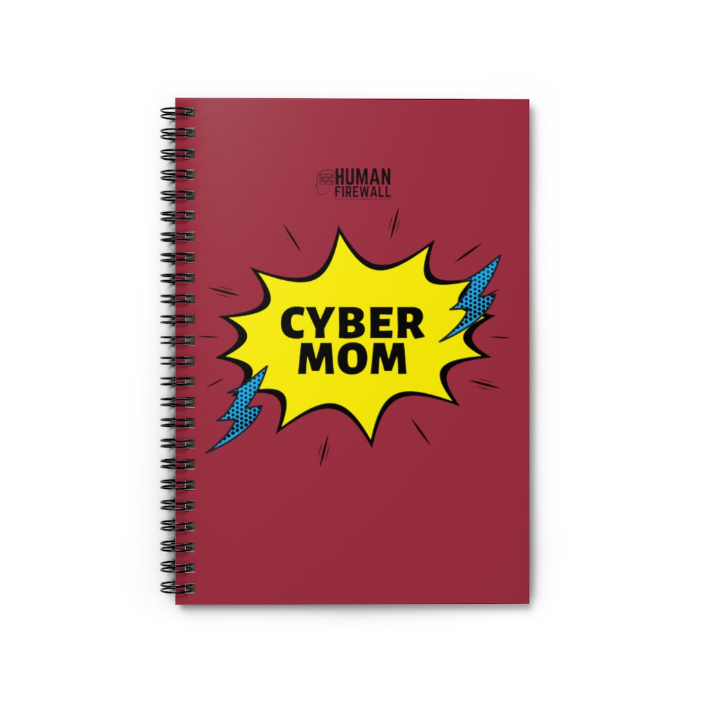 """Cyber Mom"" Custom Spiral Notebook - Ruled Line"