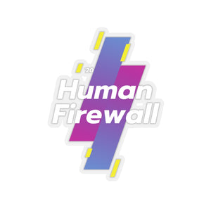 """Human Firewall - Sports"" Custom Kiss-Cut Stickers"