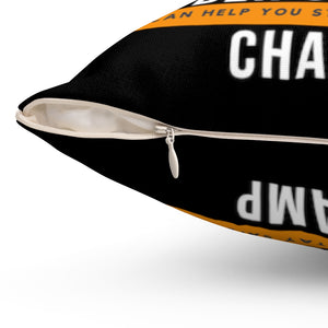 """Cyber Security Champ"" Custom Spun Polyester Square Pillow"