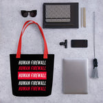 """Human Firewall"" 2 Color Cyber Security Custom Tote bag"