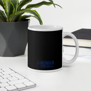 """Watch out for Shoulder Surfers"" Custom Mug humanfirewall.myshopify.com"