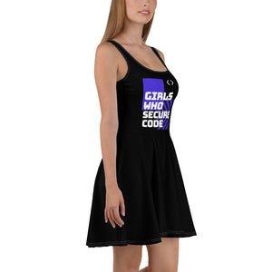 """Girls who secure code"" Custom Skater Dress www.buildinghumanfirewall.com"