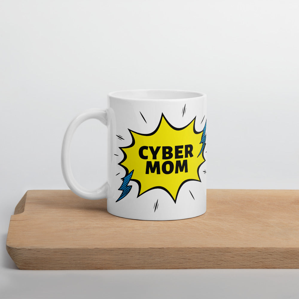 """Cyber Mom"" Cyber Security Custom Mug www.buildinghumanfirewall.com"