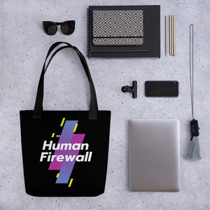 """Human Firewall - Sports"" Custom Tote bag"