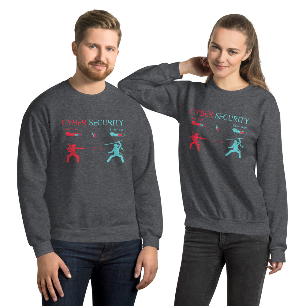 """Red Team vs Blue Team"" Custom Unisex Sweatshirt"