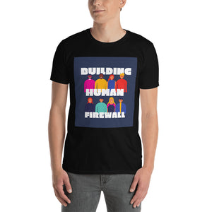 """Building Human Firewall (Diversity)"" Cyber Security Custom Men's T-Shirt www.buildinghumanfirewall.com"