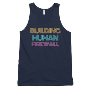 """Building Human Firewall"" Vintage Cyber Security Custom Men Tank Top www.buildinghumanfirewall.com"