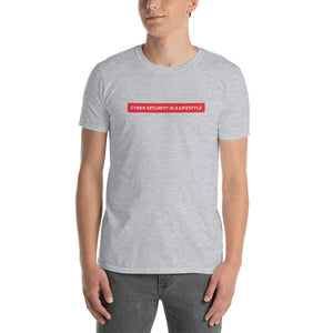 """Cyber Security is a Lifestyle"" Custom Unisex T-Shirt humanfirewall.myshopify.com"