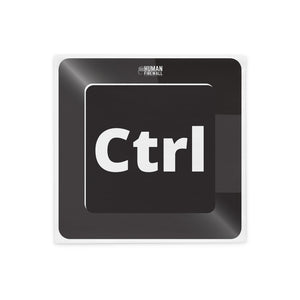 """Ctrl Keyboard Button"" Cyber Security Custom Pillow Case www.buildinghumanfirewall.com"