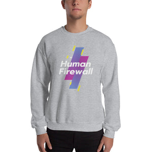 """Human Firewall - Sports"" Cyber Security Custom Unisex Sweatshirt"