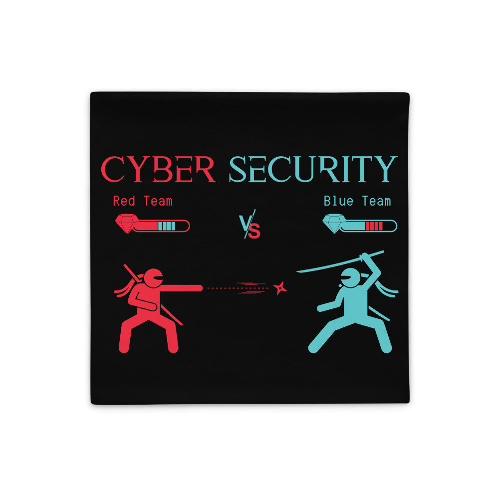 """Red Team vs Blue Team"" Cyber Security Custom Pillow Case"