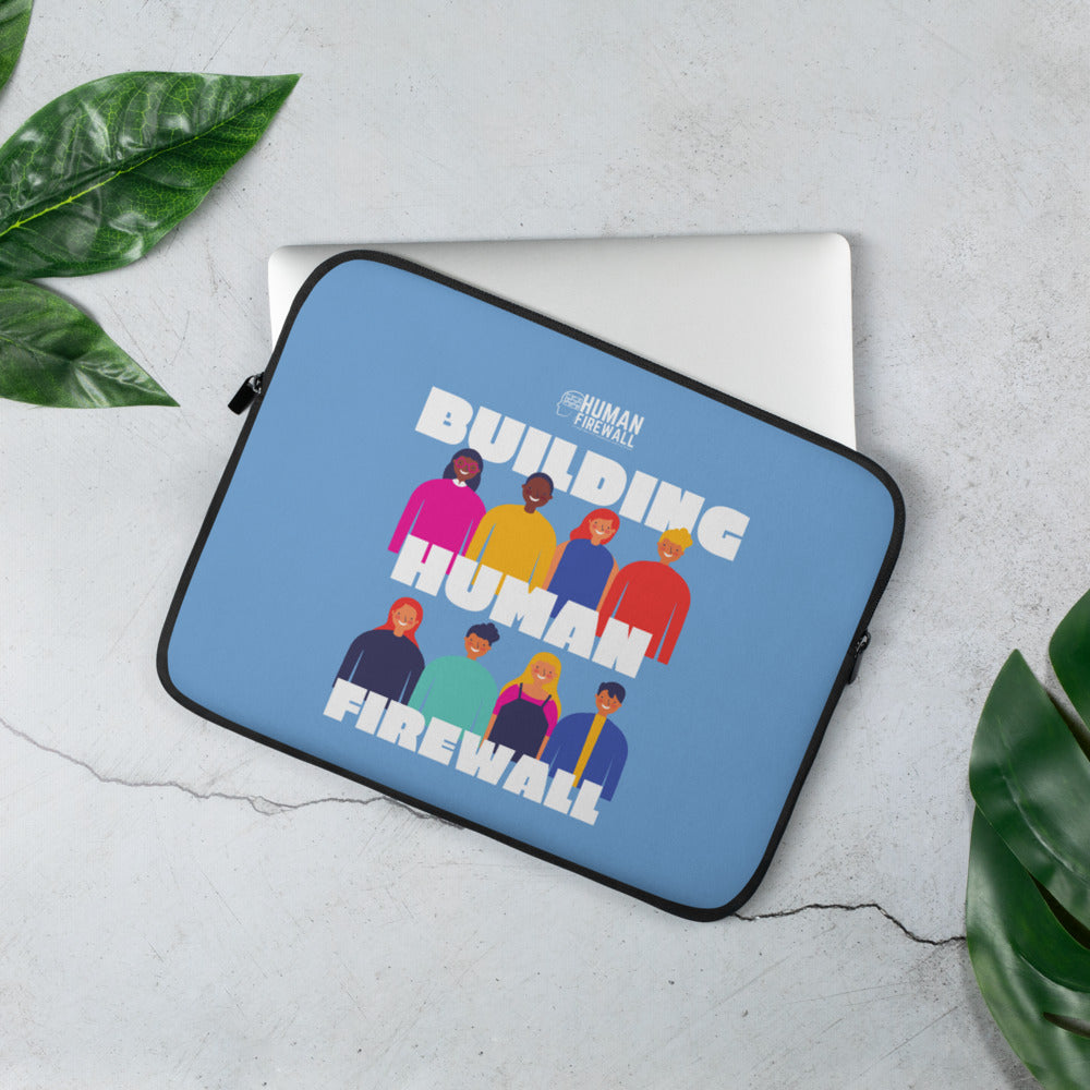 """Building Human Firewall (Diversity)"" Cyber Security Custom Laptop Sleeve www.buildinghumanfirewall.com"