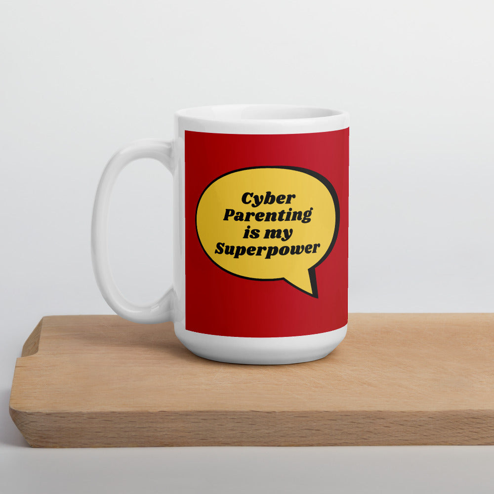 """Cyber Parenting is My Superpowers"" Custom Mug humanfirewall.myshopify.com"