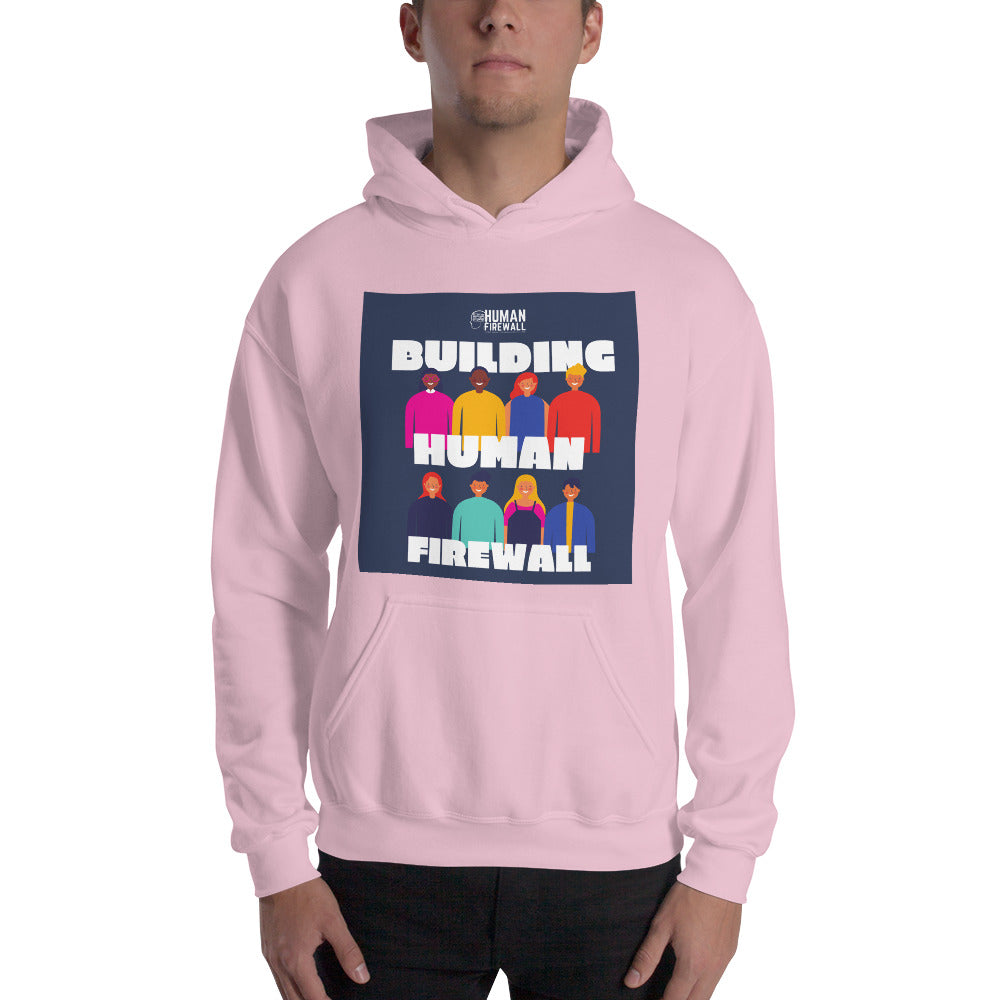 """Building Human Firewall (Diversity)"" Custom Men's Hoodie"