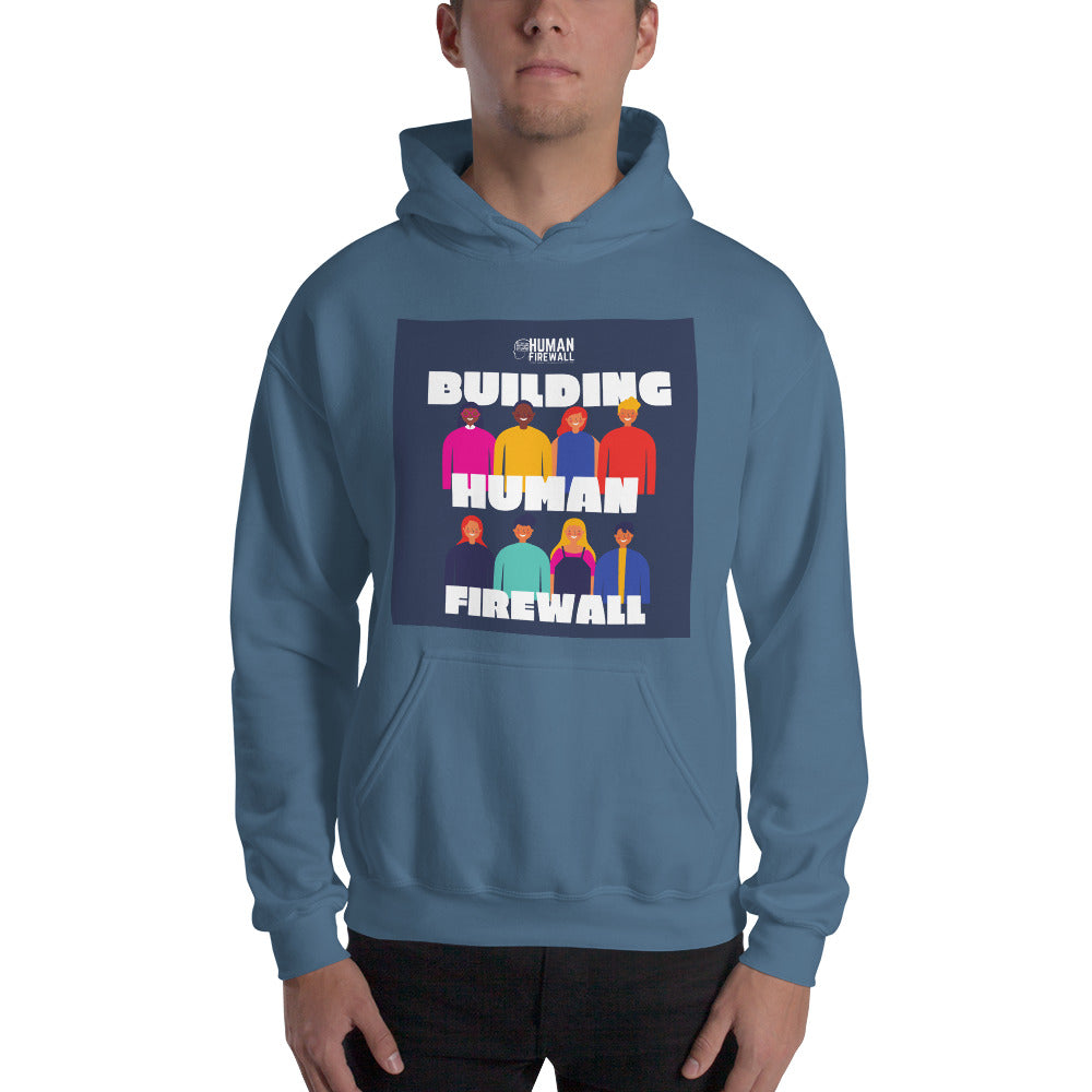 """Building Human Firewall (Diversity)"" Cyber Security Custom Men's Hoodie www.buildinghumanfirewall.com"