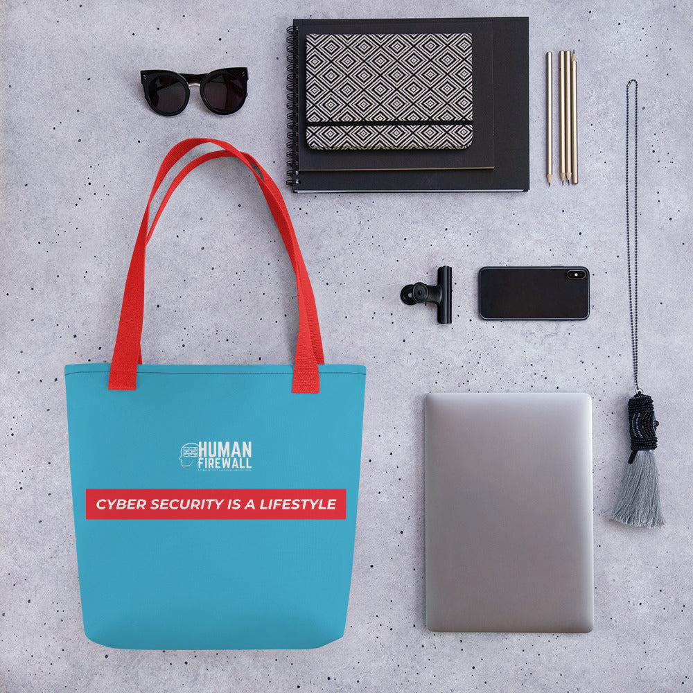 """Cyber Security is a Lifestyle"" Cyber Security Custom Tote bag"