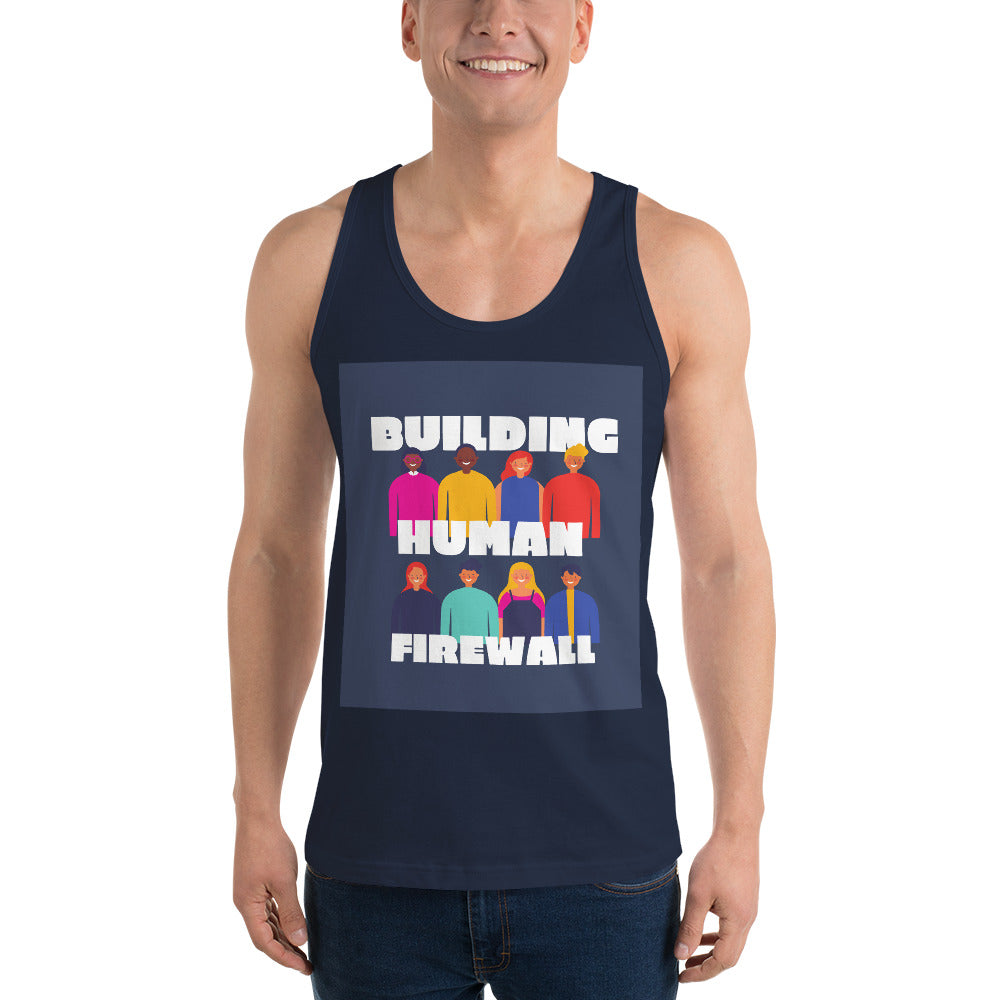"""Building Human Firewall (Diversity)"" Cyber Security Custom Unisex Classic Tank Top www.buildinghumanfirewall.com"