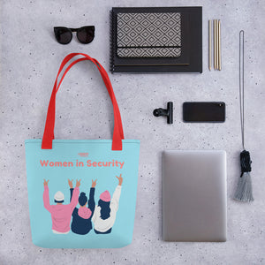 """Women in Security"" Custom Tote bag humanfirewall.myshopify.com"