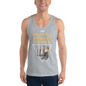 """Sec_rity is Incomplete Without U"" Custom Unisex Tank Top humanfirewall.myshopify.com"