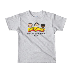 """Awesome"" Cyber Security Custom Kids T-shirt buildinghumanfirewall.com"