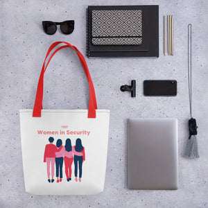 """Women in Security - Friends"" Cyber Security Custom Tote bag"