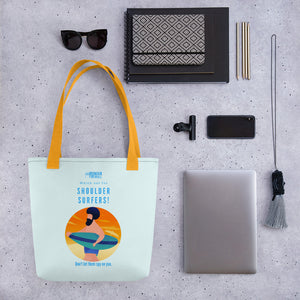 """Watch out for Shoulder Surfer"" Cyber Security Custom Tote bag"