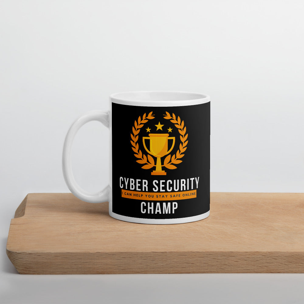 """Cyber Security Champ"" Custom Mug humanfirewall.myshopify.com"