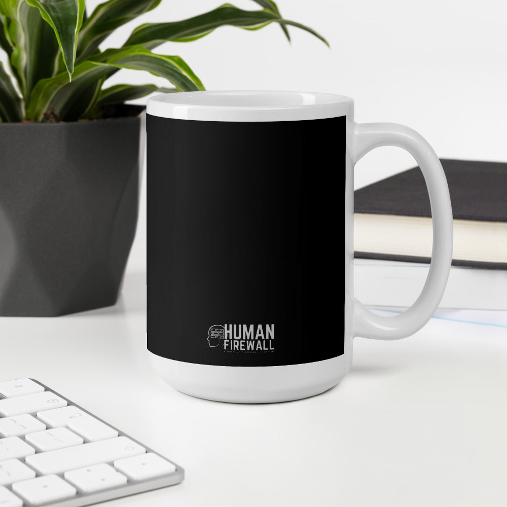 """Building Human Firewall (People)"" Cyber Security Custom Mug www.buildinghumanfirewall.com"