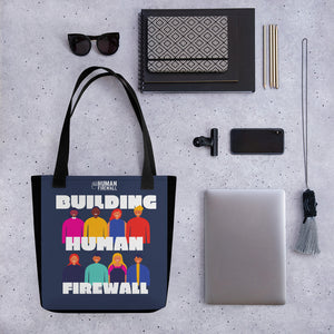 """Building Human Firewall (Diversity)"" Cyber Security Custom Tote bag www.buildinghumanfirewall.com"