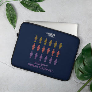 """Building Human Firewall (People)"" Cyber Security Custom Laptop Sleeve www.buildinghumanfirewall.com"