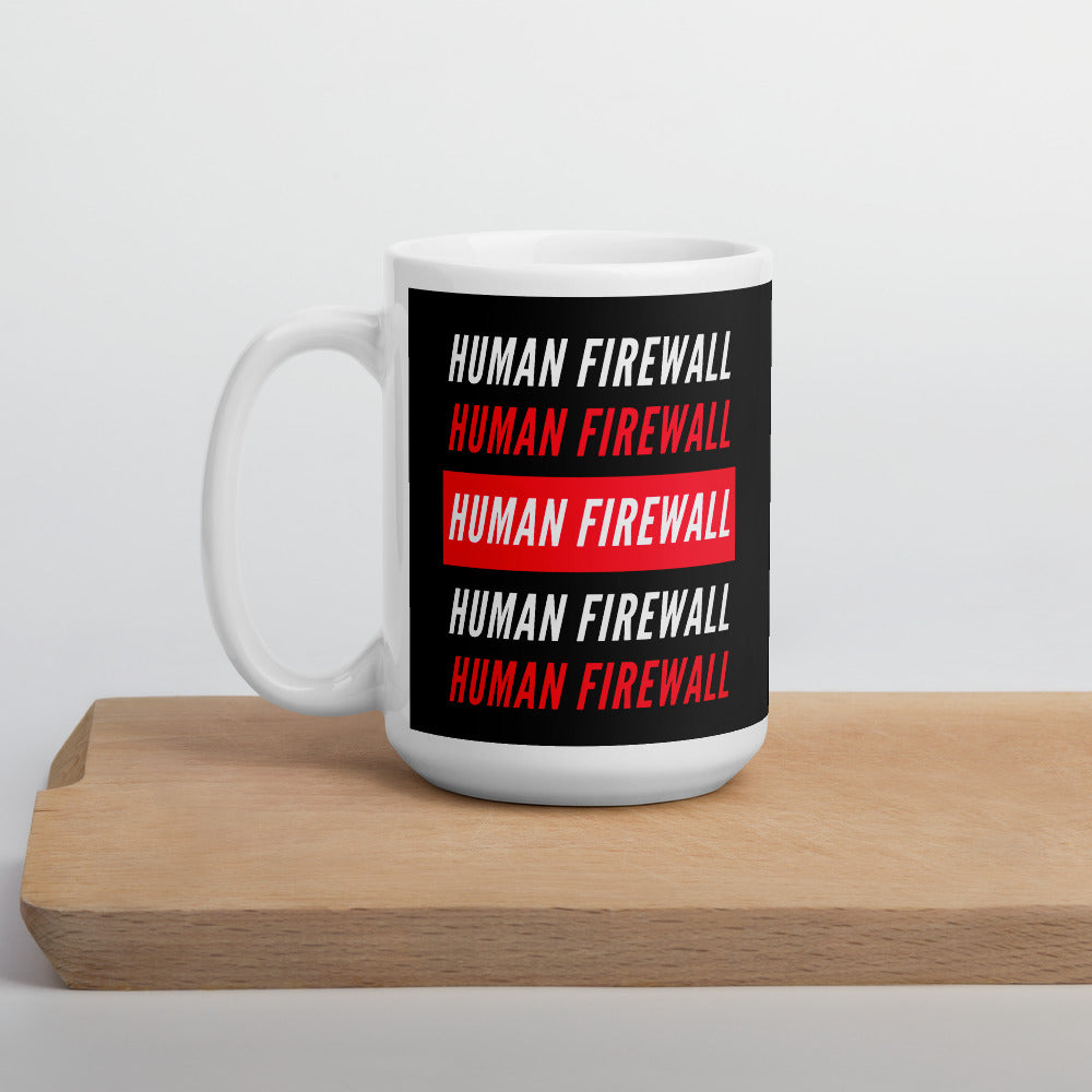 """Human Firewall"" Cyber Security Custom Mug"