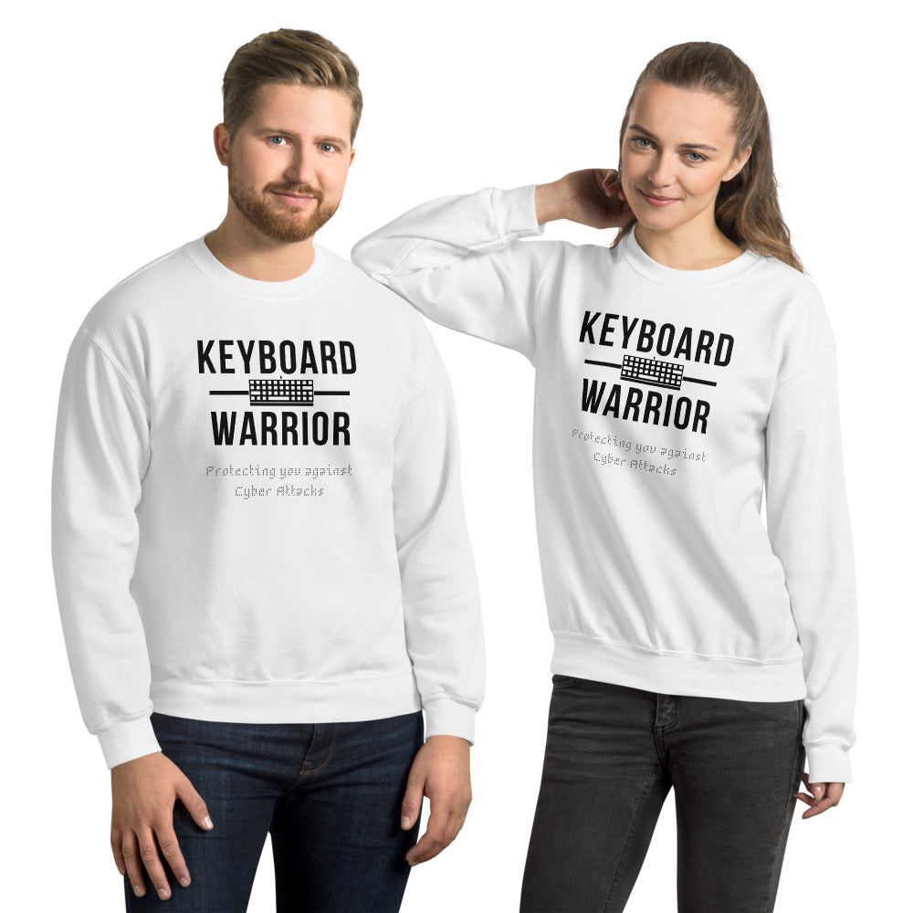 """Keyboard Warrior"" Custom Unisex Sweatshirt"