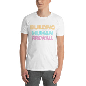 """Building Human Firewall"" Vintage Cyber Security Custom Men's T-Shirt www.buildinghumanfirewall.com"