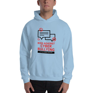 """Bid Against Cyber Bullying"" Custom Men's Hoodie www.buildinghumanfirewall.com"