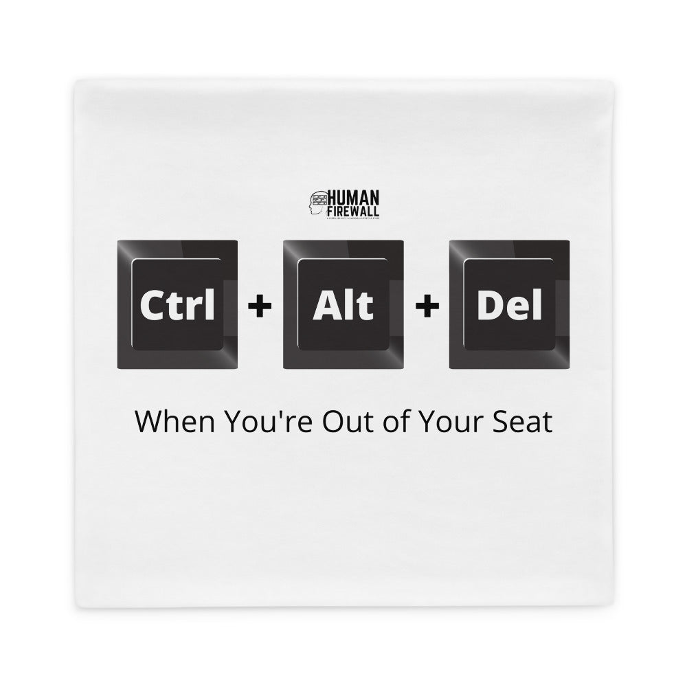 """Ctrl+Alt+Del Keyboard Button"" Cyber Security Custom Pillow Case www.buildinghumanfirewall.com"
