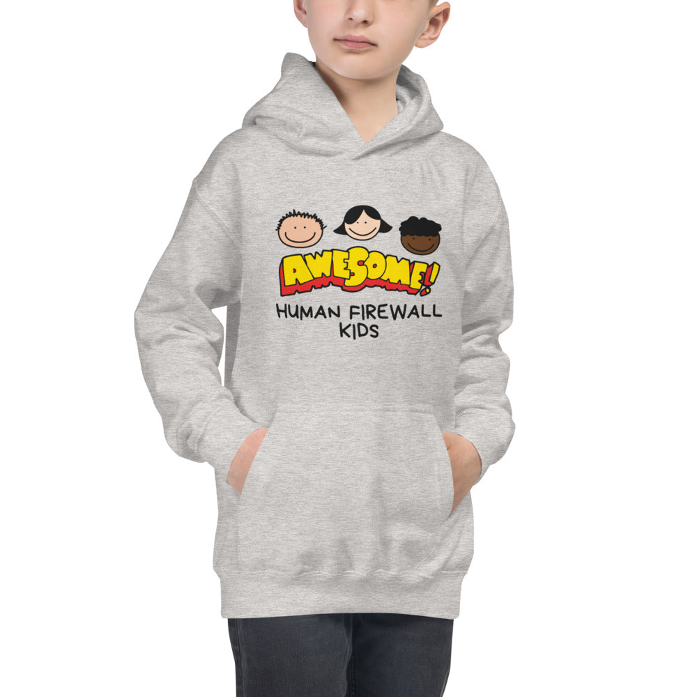 """Awesome""  Cyber Security Custom Kids Hoodie"