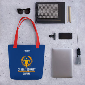 """Cyber Security Champ"" Cyber Security Custom Tote bag"