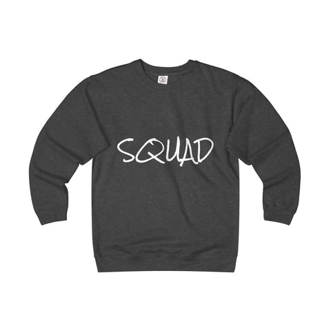Squad Unisex Heavyweight Fleece Crew - Charcoal Heather / S - Sweatshirt