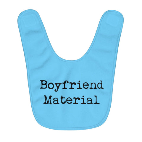 Boyfriend Material Fleece Baby Bib - One Size - Kids clothes